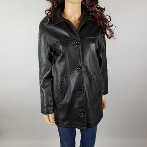 Vintage Jones NY Genuine 80s Leather Jacket Sz S